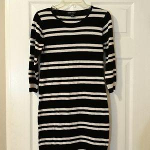 Forever21 Black striped dress